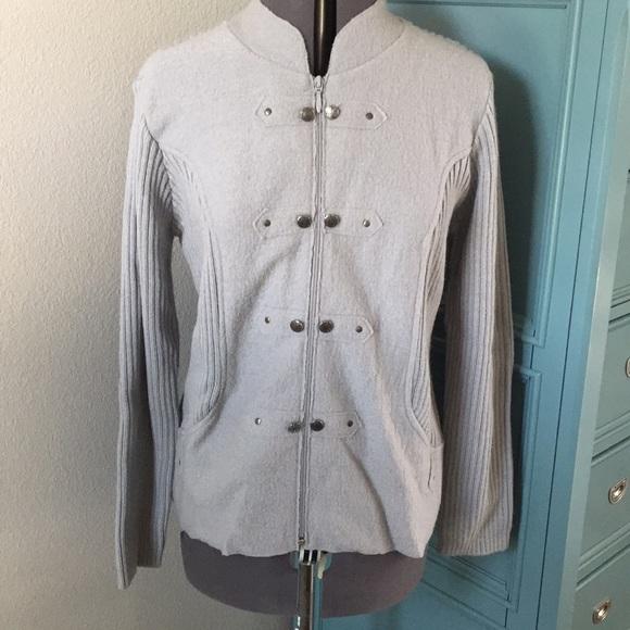 12b08ad9ea Women s Orvis wool sweater zip font size L grey